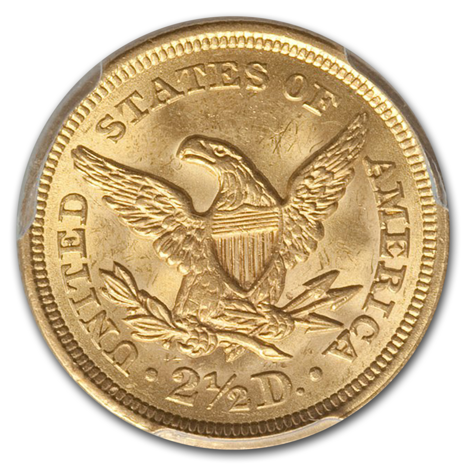 1851 $2.50 Liberty Gold Quarter Eagle MS-63 PCGS